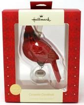 Hallmark Premium Christmas Ornament Ceramic Red Cardinal Bird 2018 - $25.74