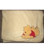 Disney Winnie the Pooh Baby Blanket Yellow Fleece Tigger Piglet Embossed - $20.87