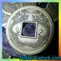 Double Dragon Coin Blessed for Protection from Dark Arts & Evil Spirits!... - $14.99