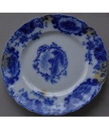 Wonderful Antique J&G Meakin Homestead Flow Blue 10 Inch Plate - VERY OL... - $29.69