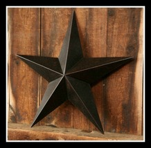"""Patriotic Barn Star - 24"""" Anique Black - Inside or Outside, Show Your Pride!"""