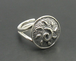 R000659 Stylish STERLING SILVER Ring Solid 925 Sun Adjustable size - $368,38 MXN