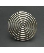R000763 STERLING SILVER Ring Solid 925 Huge Spiral Adjustable size - $40.80