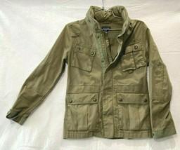 Ralph Lauren Field military jacket snap buttons Pockets Girls Green Size L:12/14 - $55.15