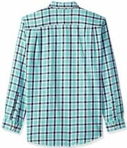 Amazon Essentials Men's Regular-Fit Long-Sleeve Plaid Two-Pocket Twill Shirt image 2