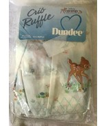 Vintage Bambi Disney Babies Classic Collection Crib Ruffle Dust Ruffle N... - $29.69