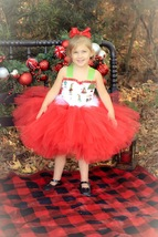 Grinch Tutu, Girls Christmas Grinch Tutu, Christmas Pageant Tutu - $40.00+