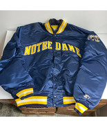 Notre Dame Starter Nylon Jacket Mens XL Vintage 80s Made in USA Embroidered - £58.09 GBP