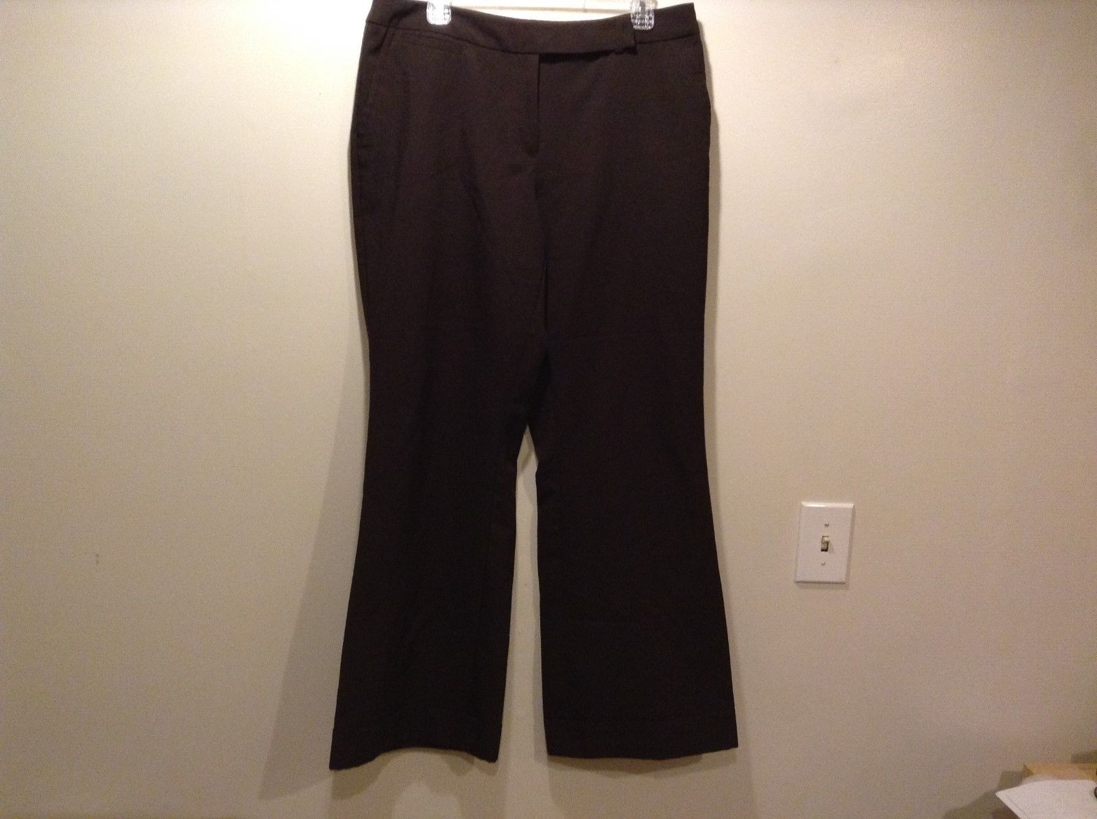 New York & Company Stretch Brown Bell Bottom Pants Sz 12A
