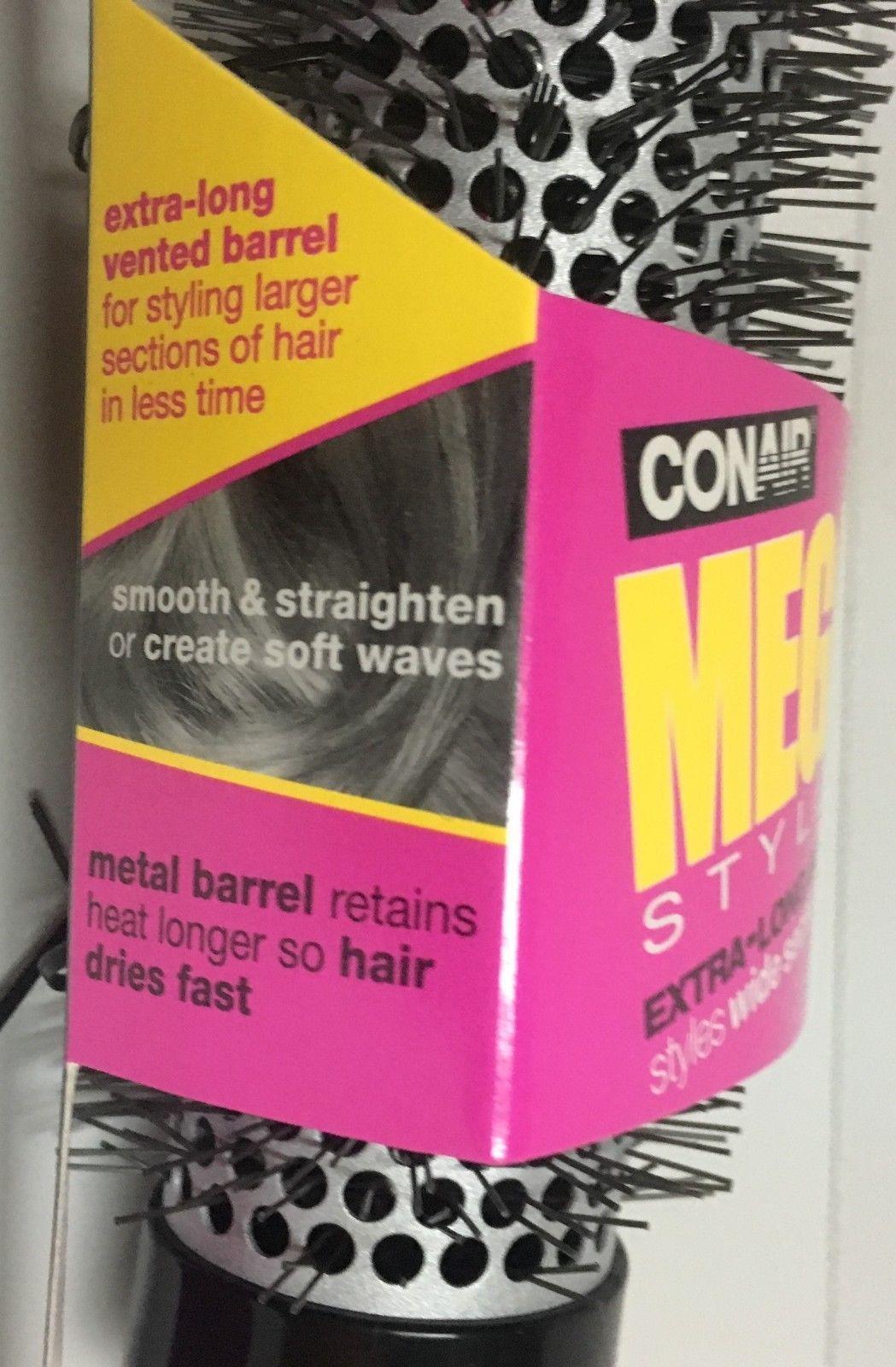 Conair Mega Styler Hair Brush Extra Long Barrel Wide Sections