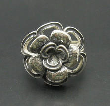 R000702 Sterling Silver Ring Solid 925 Flower - $428,77 MXN
