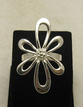 R000907 Sterling Silver Ring Solid 925 Huge Flower - $14.10