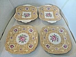 Royal Albert Devonshire Lace Candy Dish Dessert Plate Handled Roses LOT ... - $28.84