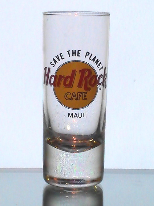 hard rock cafe maui hawaii collectible tall shot glass shooter 2 oz 999