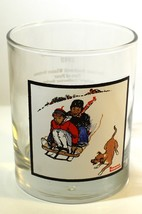 "Vintage 1979 Arby's Norman Rockwell Glass ""Downhill Daring"" Winter Scene... - $12.25"