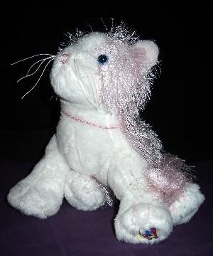Stuffed Animal Cat Webkins Pink & White Kitty No Tag or Code