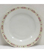 Vintage Dinner Plate with Pink Rose TRim - Bris... - $5.99