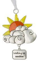 Gnz Life is a Breeze Inspirational Zinc Ornaments -Walking on Sunshine - $7.43