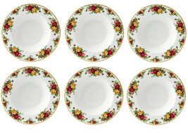 Royal Albert Old Country Roses 6 Piece Rim Soup Bowl Set New - $148.90