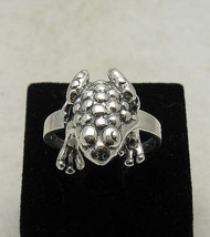 R000817 Sterling Silver Ring Solid 925 Frog - $18.00