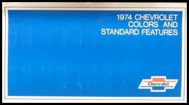 1974 Chevrolet ORIGINAL Paint Chip Color Feature Sales Brochure GM 74 - $8.42