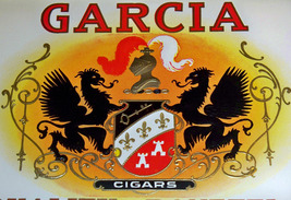 Coat of Arms! Garcia Embossed Inner Cigar Label... - $7.99