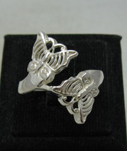 R001148 Sterling Silver Ring Solid 925 two Butterlies - $218,89 MXN