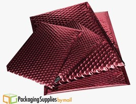 "Glamour Metallic Bubble Mailers 9"" x 11.5"" Red Sealing Envelopes 300 Bags - $177.71"