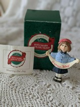 Hallmark Collections Sharing The Joy Girl In Beret French Wish Ornament  - $12.60