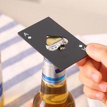 Mini Spade A Poker Card Beer Bottle Opener Creative Stainless Steel Bott... - $31.01+