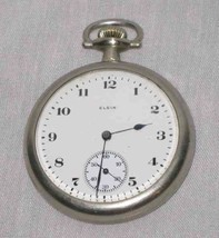 "Neat Vintage 1 7/8"" Elgin Pocket Watch - $124.67"