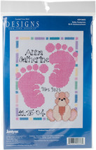 "Janlynn/Special Moments Mini Counted Cross Stitch Kit 5""X7""-Baby Footprints - $9.11"