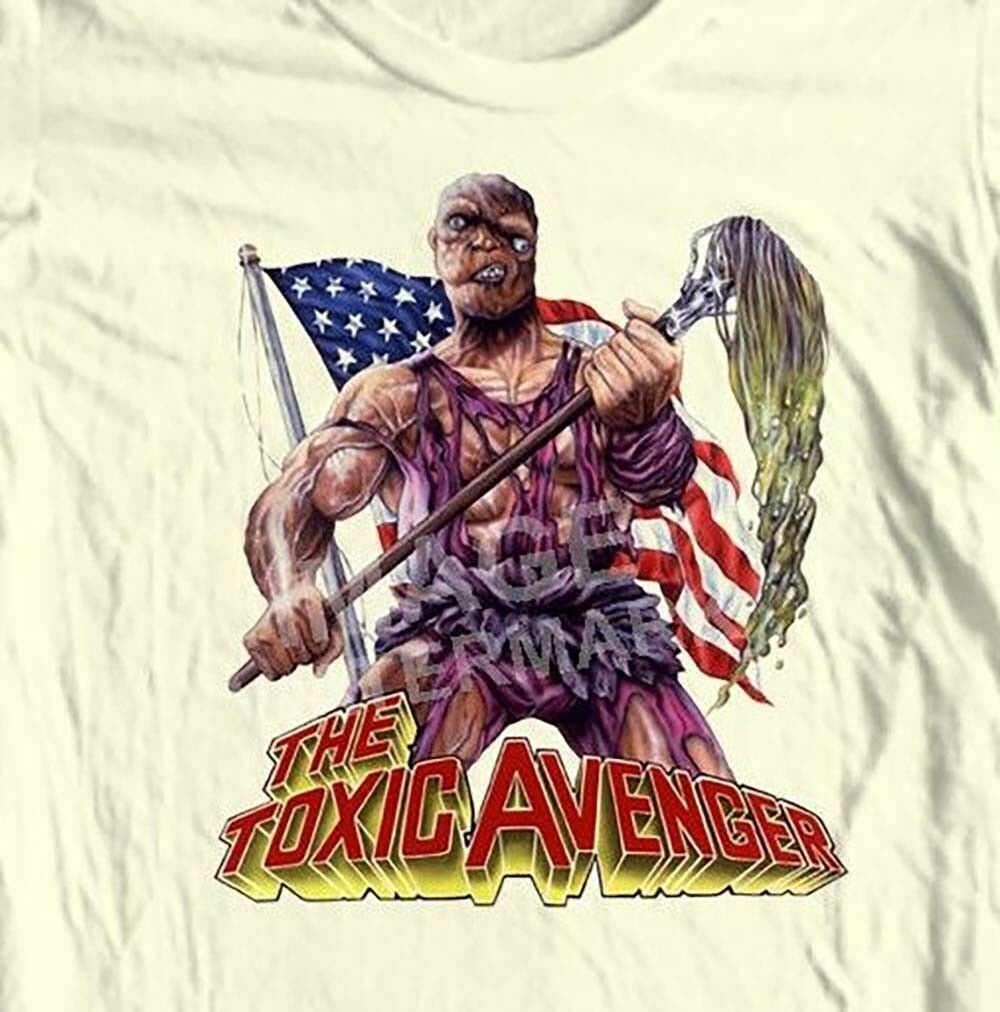 The Toxic Avenger T-shirt 80's horror movie Tromaville 100% cotton graphic tee