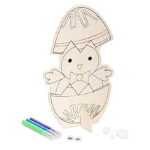 Darice Easter Wooden Chick with Pom Poms & Eyes Craft w - $6.99