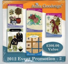 Anita Goodesign, 2012 Event Promotion - 2, Embroidery Machine Design CD - $29.09