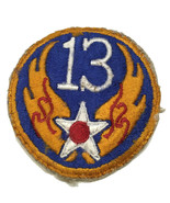 Original WWII USAAF U.S. ARMY 13th AIR FORCE COLOR PATCH No Glow - $8.56