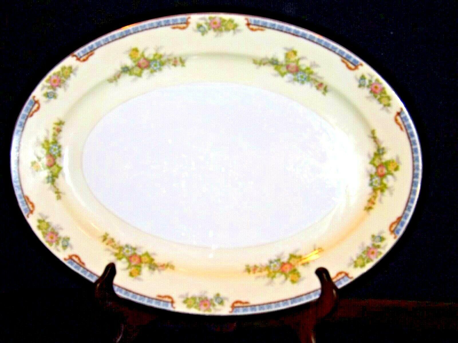 Meita China Large Serving Platter~ Japan Hand Painted AA19-1525 Vintage