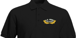 US ARMY Retired with Oak leaves Embroidered Polo Shirt Embroidered gift - $29.95+