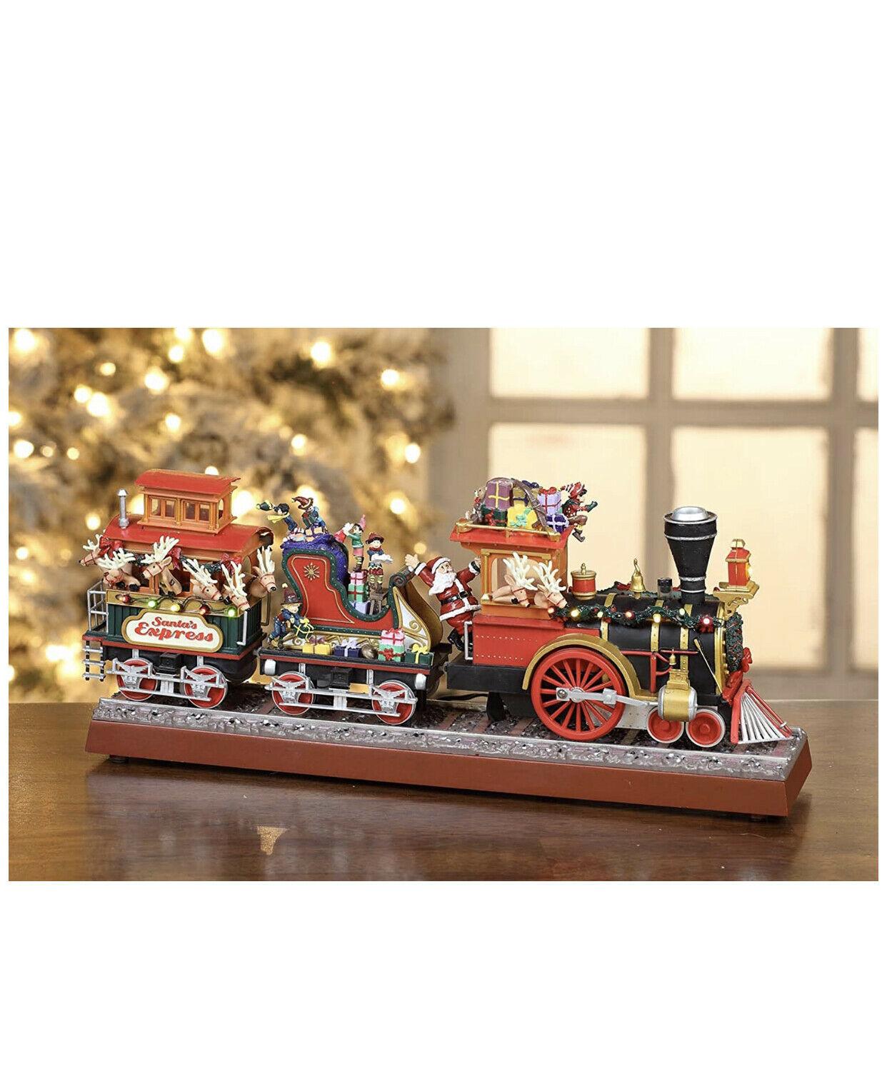 Mr. Christmas Animated Musical Santa's Express & Working Smokestack 20 songs (a) - $395.99