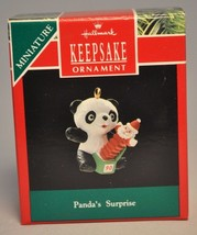 Hallmark - Panda's Surprise - Jack-In-Box - Miniature Ornament - $6.94