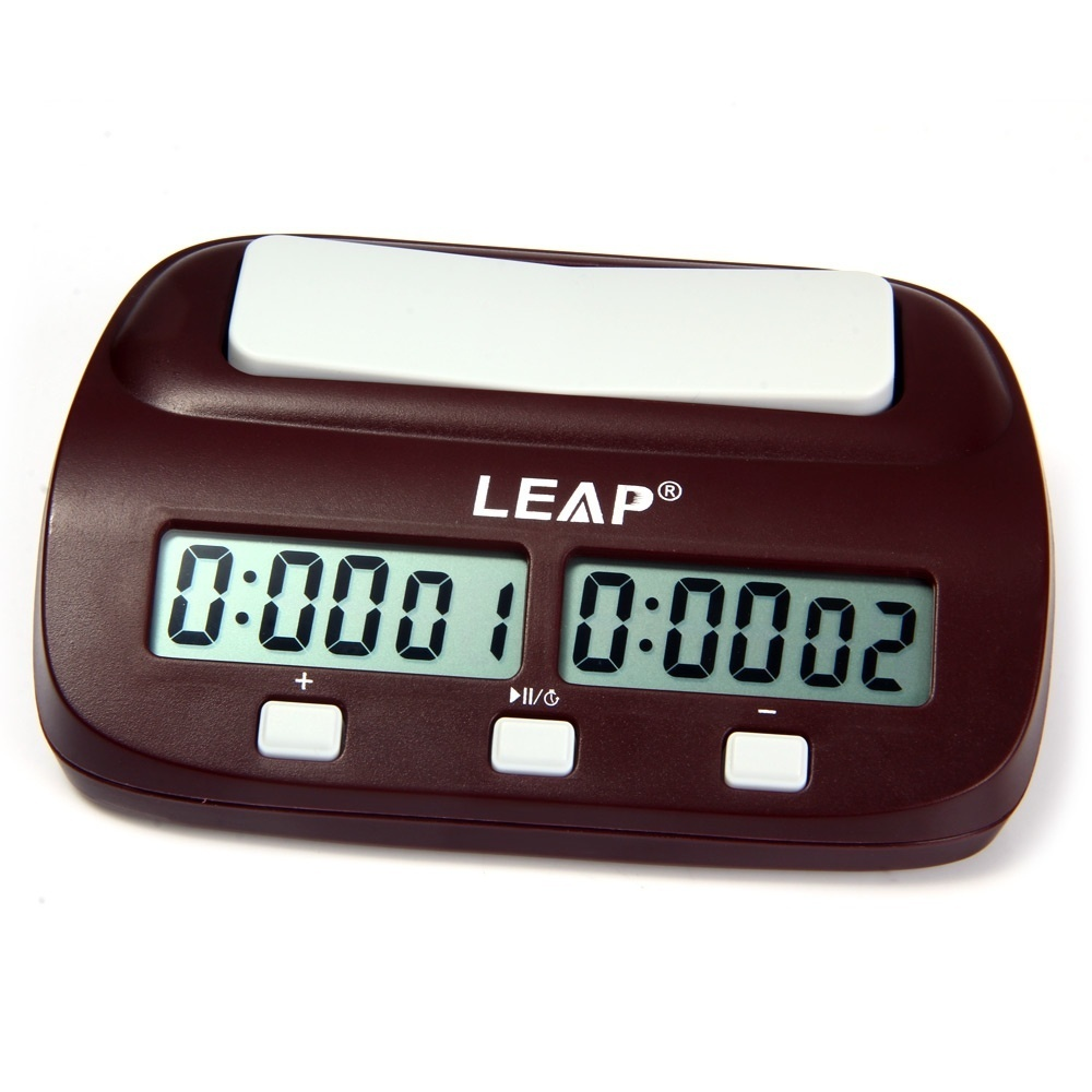 LEAP PQ9907S Digital Chess Clock I-go Count Up Down Timer-Wine Red image 3