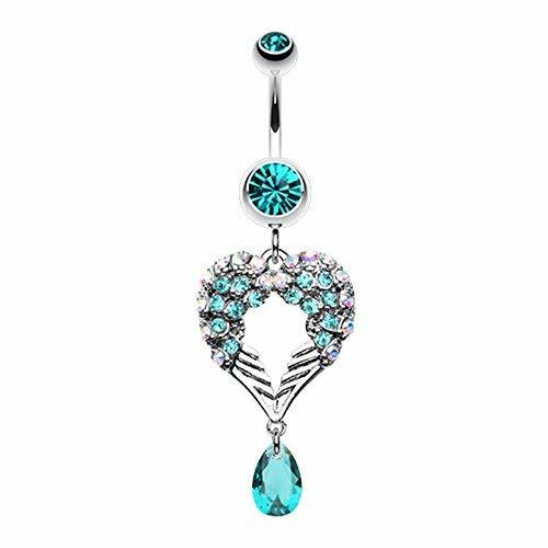 Primary image for Heart Wings Crystalline WildKlass Belly Button Ring