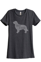 Golden Retriever Dog Print Women's Relaxed T-Shirt Tee Charcoal Grey - $24.99+