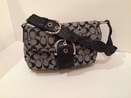 Coach G0817-F11862 Purse Black Canvas with Leather Trim - $34.65