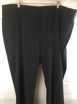 Lane Bryant Black Dress Pants Size 24P Poly/Rayon/Spandex  Unhemmed - $26.68