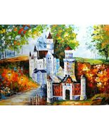 "Leonid Afremov-""Magical Castle""-Original Oil Painting/Canvas/Signed/COA/... - $1,800.25"
