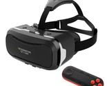 SHINECON 2.0 3D VR Virtual Reality Glasses Box with Wireless Bluetooth Remote Co
