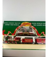 Vintage Santa Land Musical Holiday Train Set New Bright No 181 1997 - $148.49