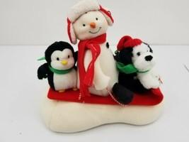 Hallmark Jingle Pals 2007 Sleigh Ride Snowman Penguin Dog - For Parts - $23.33