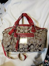 Coach Poppy 16295 Secret Admirer Lurex Rocker Convertible Tote Red Hearts - $79.20